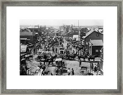 Old West Cimarron New Mexico Main St Framed Print