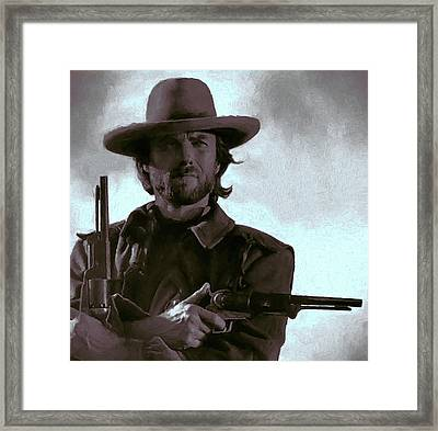 Old West Eastwood Painterly Framed Print by Daniel Hagerman