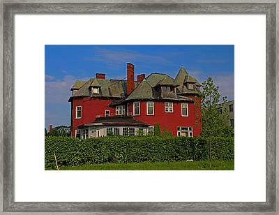 Old West End- The John Berdan Home  Framed Print by Michiale Schneider