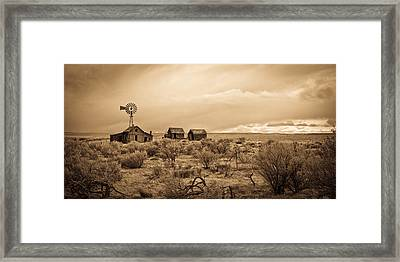 Old West Farm Framed Print by Steve McKinzie