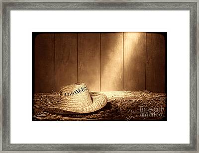 Old West Farmer Hat Framed Print