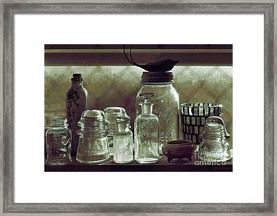 old west impressionism - Glass Ware VII Framed Print