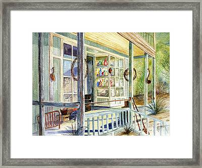 Old West Junk Shop Framed Print by Marilyn Smith