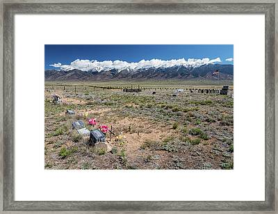 Old West Rocky Mountain Cemetery View Framed Print by James BO Insogna