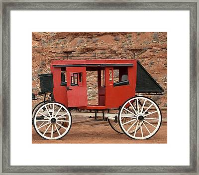 Framed Print featuring the photograph Old West Taxi by Fred Wilson