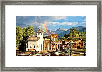 Old West Town Framed Print