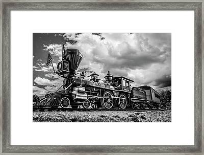 Old West Train Framed Print