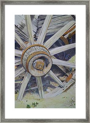 Old West Wagon Framed Print by Scott Kingery