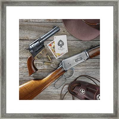 Old West Weapons Framed Print