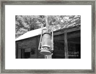 Old Western Lantern Framed Print