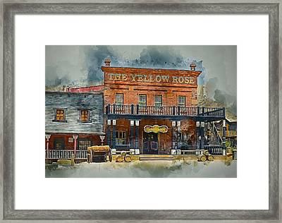 Old Western Saloon Bar Framed Print