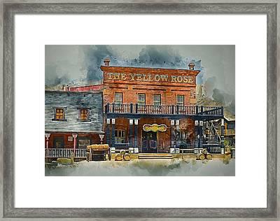 Old Western Saloon Bar Framed Print