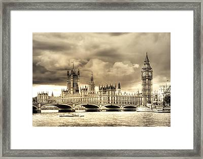 Old Westminster In London Framed Print by Vicki Jauron
