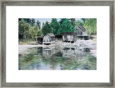 Old Westsound Framed Print by Cory Calantropio