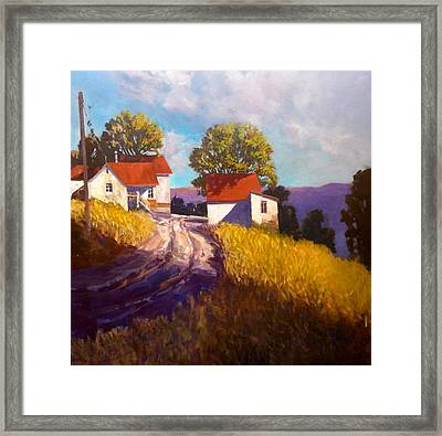 Old Willy's Barn Framed Print