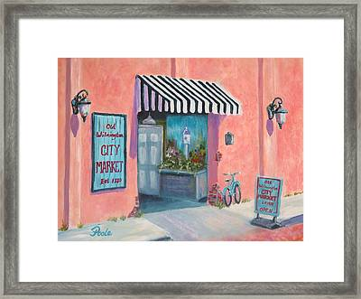 Old Wilmington City Market  Framed Print