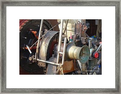 Old Winch On A Fishing Boat Framed Print by Yali Shi