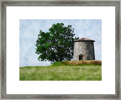 Framed Print featuring the photograph Old Windmill by Jean Bernard Roussilhe