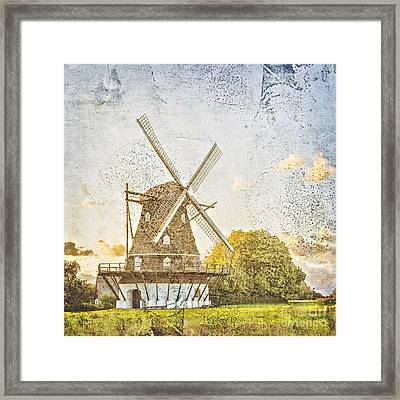Old Windmill Vintage Styled Framed Print by Sophie McAulay