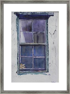 Old Window And New Home Framed Print