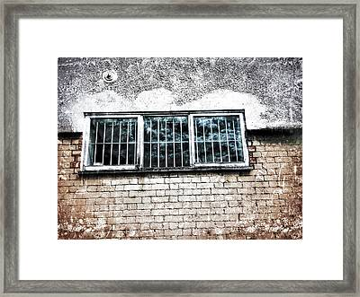 Old Window Bars Framed Print by Tom Gowanlock