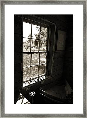 Framed Print featuring the photograph Old Window by Joanne Coyle