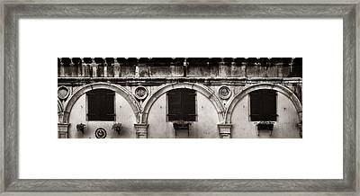 Framed Print featuring the photograph Old Window Panorama by Songquan Deng
