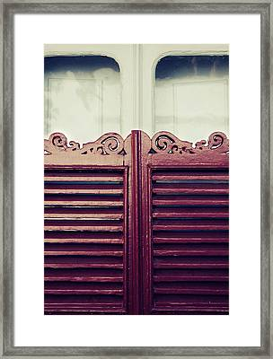 Old Window Shutters Framed Print by Carlos Caetano