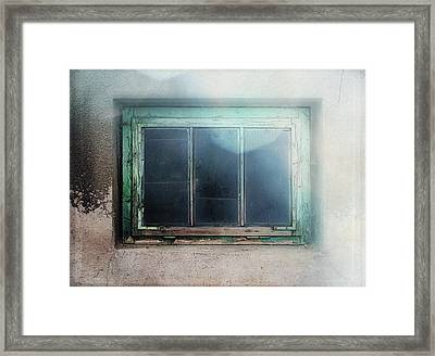 Old Window Framed Print by Terry Davis