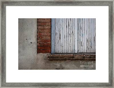 Old Window With Closed Shutters Framed Print