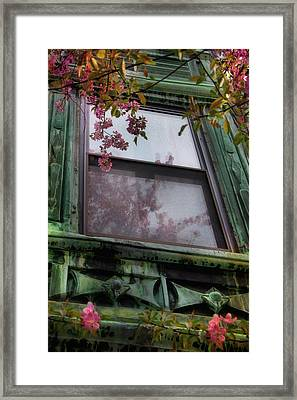 Old Windows - Back Bay Boston Framed Print by Joann Vitali