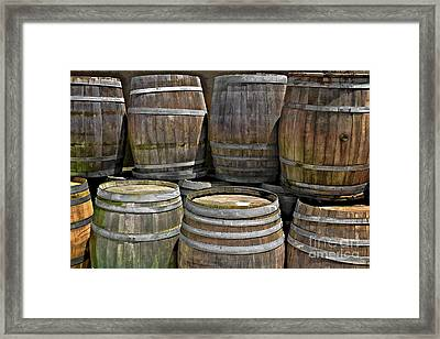 Old Wine Barrels Framed Print