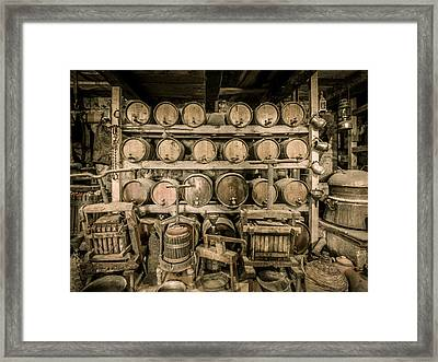 Old Wine Cellar 3 Framed Print