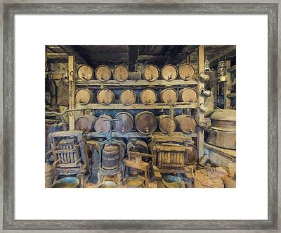 Old Wine Cellar 4 Framed Print