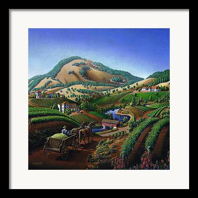 Sonoma County Vineyards Paintings Framed Prints