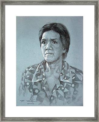 Framed Print featuring the painting Old Woman by Chonkhet Phanwichien