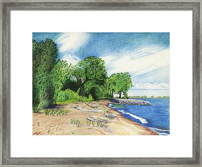 Framed Print featuring the drawing Old Woman Creek - Huron Ohio by Shawna Rowe