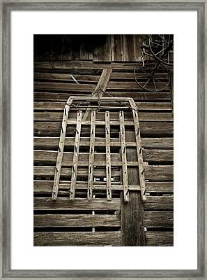 Old Wood Barn Detail Framed Print by Frank Tschakert