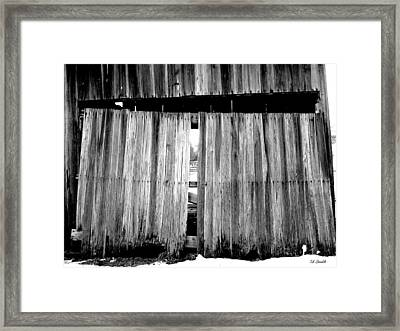 Old Wood Framed Print by Ed Smith