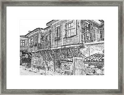 Old Wood House Framed Print by PixBreak Art