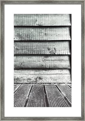 Old Wood Panels Framed Print by Tom Gowanlock