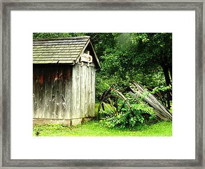 Old Wood Shed Framed Print