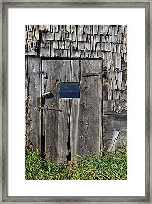 Old Wooden Barn Door Andover New Hampshire Framed Print
