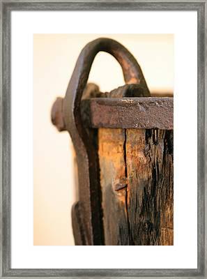 Old Wooden Barrel At The Ore Mine Sweden Framed Print