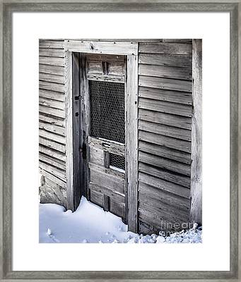 Old Wooden Chicken Coop On A Farm Framed Print