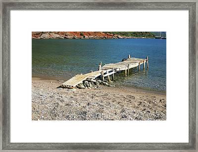 Old Wooden Dock Framed Print