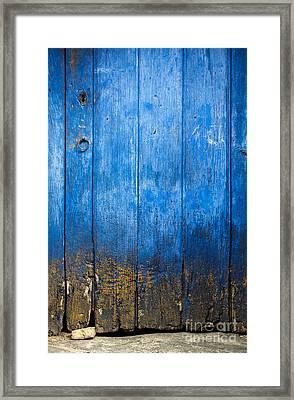 Old Wooden Door Framed Print by Carlos Caetano