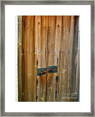 Old Wooden Door Chinese Village Hong Kong Two Framed Print by Kathy Daxon