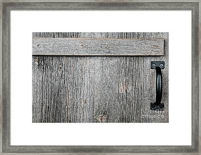 Old Wooden Door Detail Framed Print by Elena Elisseeva