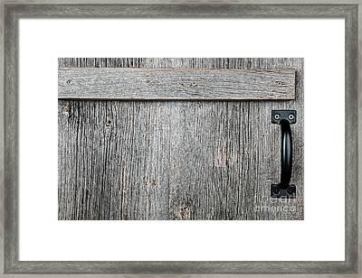 Old Wooden Door Detail Framed Print by Elena Elisseeva